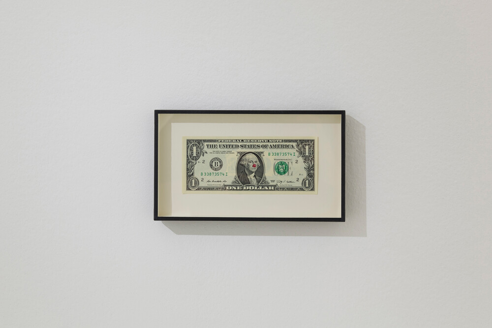One Dollar Bill With Red Nose - © Galerie des Galeries